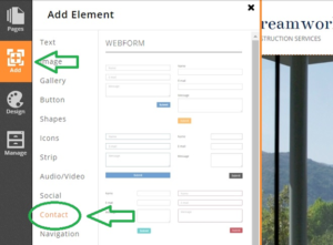 adding-webform-using-website-builder