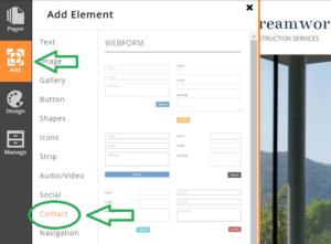 adding-webform-using-website-builder