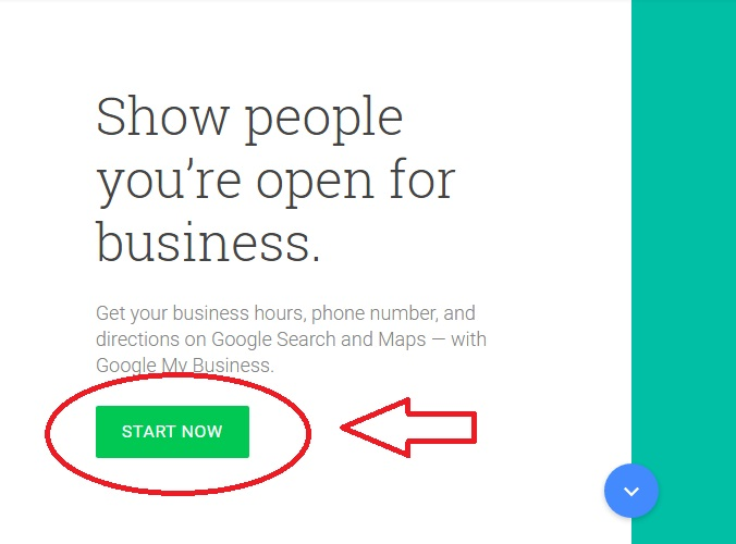 Google My Business Step 1