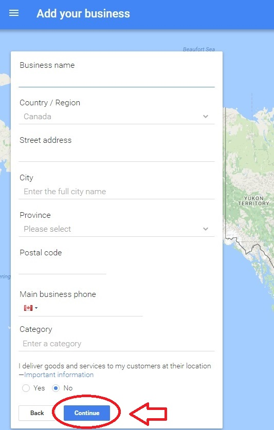 Google My Business Step 2