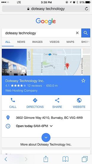 Mobile Google Search
