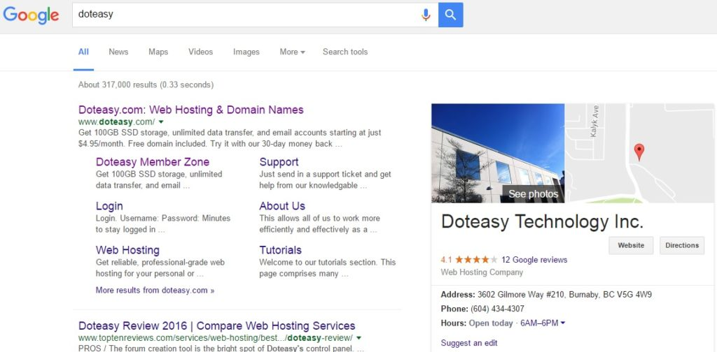 Get on Google with a FREE Business Listing | Doteasy's Official Blog
