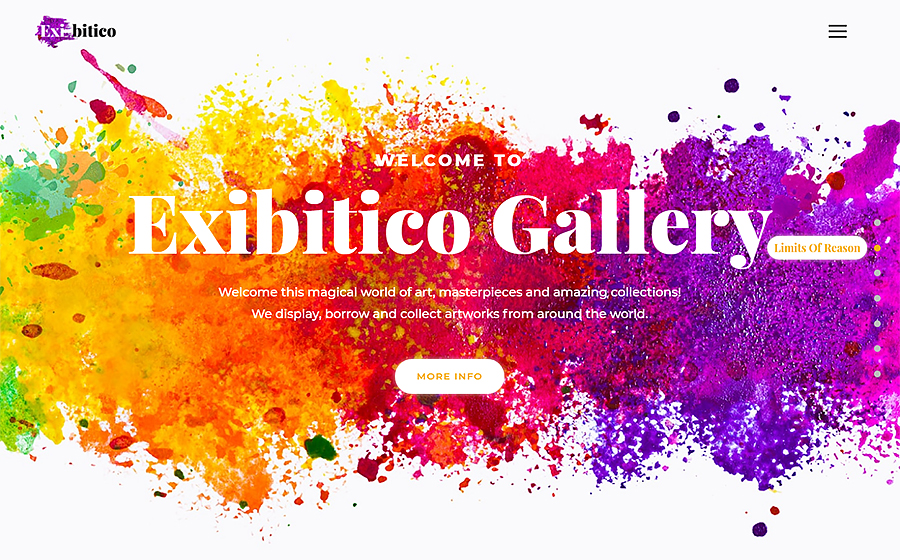 Exibitico - Art Gallery Elementor WordPress Theme
