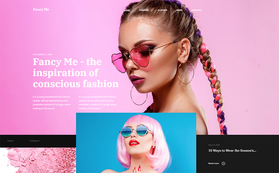 Fancy Me - Fashion Blog Elementor WordPress Theme